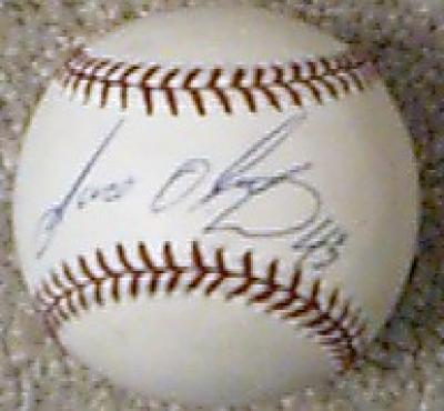 Jose Oliva autographed official NL baseball