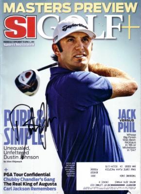 Dustin Johnson autographed 2011 Sports Illustrated Golf Plus magazine