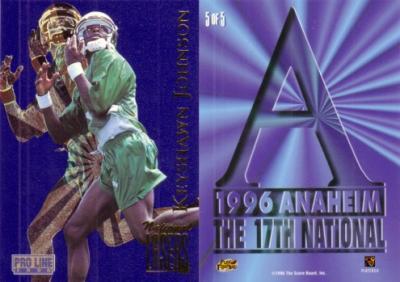 Keyshawn Johnson Jets 1996 Pro Line National promo card