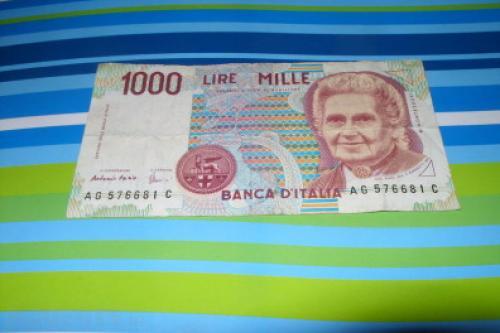 Italy 1990-1,000 lire-1962-72