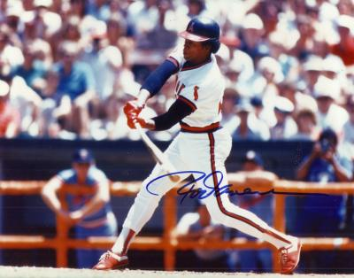 Rod Carew autographed 8x10 California Angels photo