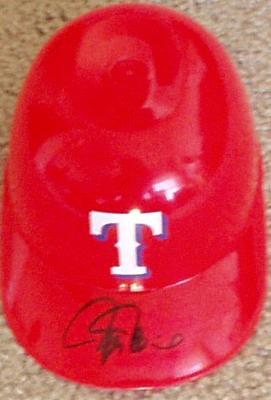 Rafael Palmeiro autographed Texas Rangers mini helmet
