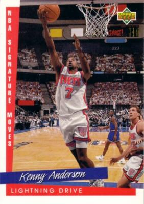 Kenny Anderson 1993-94 Upper Deck Signature Moves jumbo card