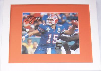 Tim Tebow autographed Florida Gators 8x10 Capital One Bowl photo framed