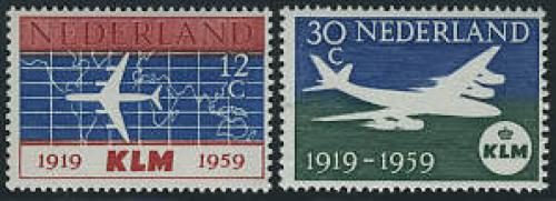 40 years KLM 2v; Year:  1959