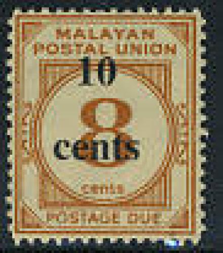 Postage due, overprint 1v; Year: 1965