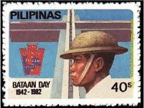 Philippine Bataan day stamps