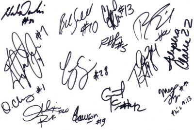 2010 WNBA San Antonio Silver Stars team autographed card