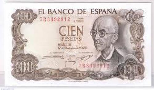 Banknotes, Spain / 100 Pesetas