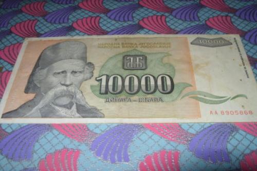 Yugoslavia - 10000 Dinars 1993