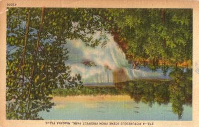 1951 Niagara Falls Prospect Park postcard