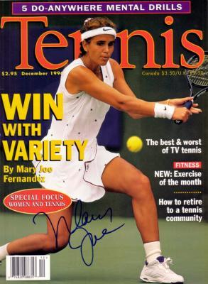 Mary Joe Fernandez autographed 1996 Tennis magazine cover