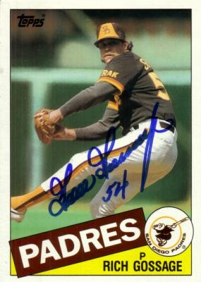 Goose Gossage autographed San Diego Padres 1985 Topps 5x7 jumbo card