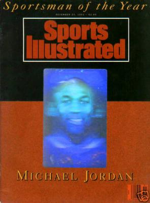 Michael Jordan 1991 Sportsman of the Year hologram Sports Illustrated issue