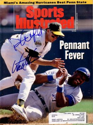 Dave Winfield & Walt Weiss autographed 1992 Sports Illustrated