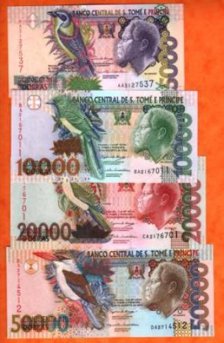 Sao tome et prince lot of 4pieces 2004 UNC