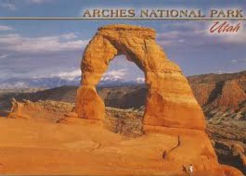 Postcards; This one is from Darlene of Utah, USA. This postcard features the Arches National Park