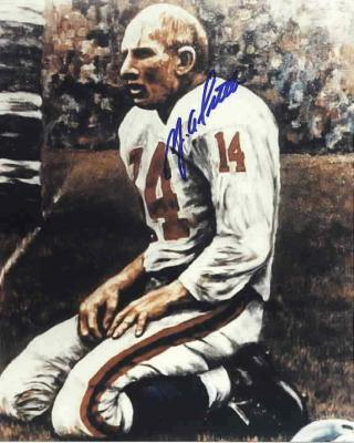 Y.A. Tittle autographed 8x10 New York Giants photo