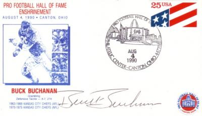 Buck Buchanan autographed 1990 Hall of Fame Induction cachet