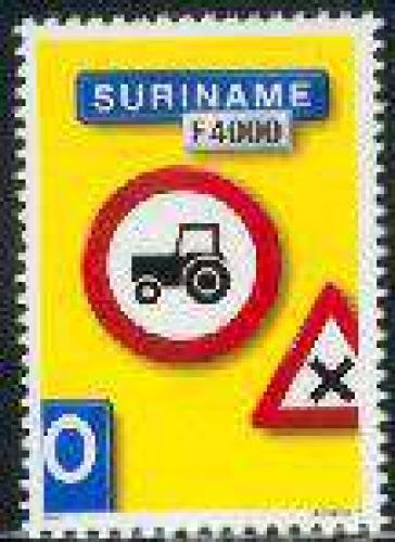 Traffic sign (tractor) 1v