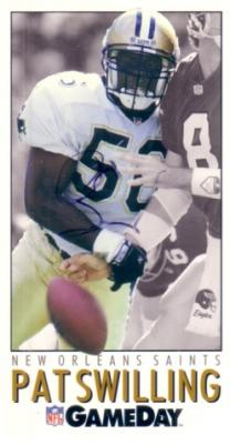 Pat Swilling autographed Saints 1992 GameDay promo card