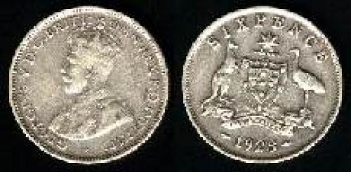 6 pence; Year: 1911-1936; (km 25)