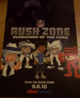 NFL Rush Zone 2010 Comic-Con Nickelodeon promo poster