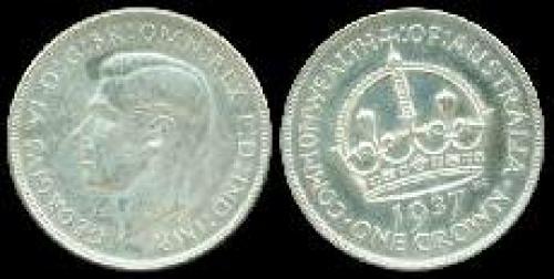 1 crown; Year: 1937-1938; (km 34)