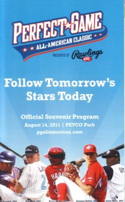 2011 Perfect Game High School All-American Classic baseball program (Lucas Giolito Lance McCullers)