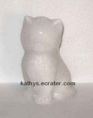 Boyd Glass White MISS COTTON Kitten Cat Animal Figurine