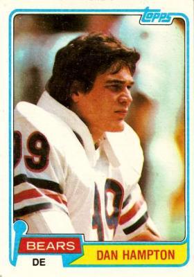 Dan Hampton Bears 1981 Topps Rookie Card #316 Ex