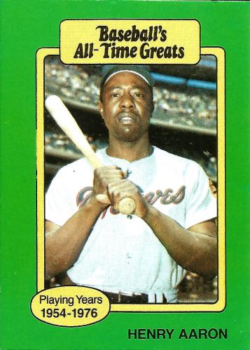 1987 Hygrade All-Time Greats #1 ~ Hank Aaron