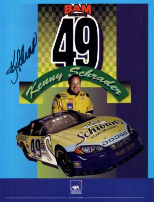 Kenny Schrader (NASCAR) autographed 8 1/2 by 11 promo photo