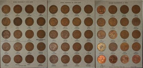 AUSTRALIA COMPLETE SET OF AUSTRALIAN PENNIES (1911-1964) INC 1925 & 1946 BUT EXCLUDING 1930