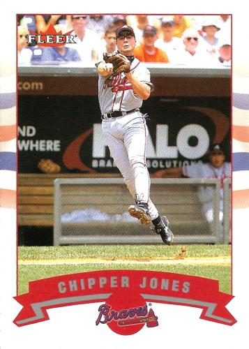 2002 Fleer #142 ~ Chipper Jones