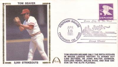 Tom Seaver 3000 Strikeouts 1981 Gateway commemorative cachet
