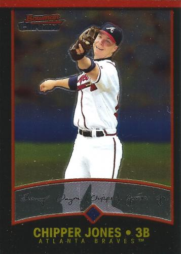 2001 Bowman Chrome #37 ~ Chipper Jones