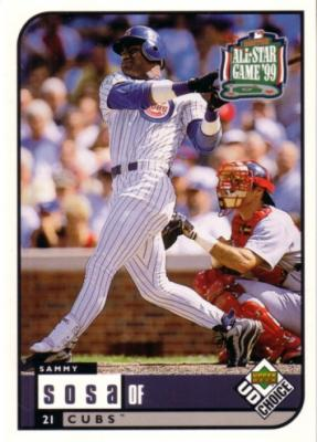 Sammy Sosa 1999 Upper Deck All-Star Game jumbo card