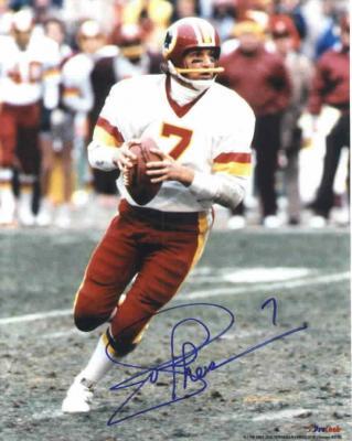 Joe Theismann autographed Washington Redskins 8x10 photo