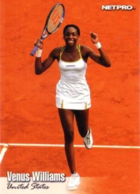 Venus Williams 2003 Netpro card #2