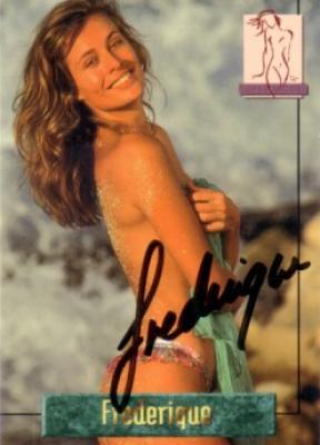 Frederique van der Wal autographed Portfolio swimsuit card