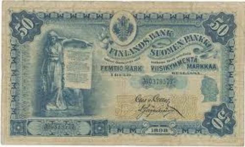 Paper Money Finland Russia 50 markkaa - 1898 issue