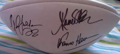 Marcus Allen Jim Brown Eric Dickerson Marshall Faulk Franco Harris autographed NFL football