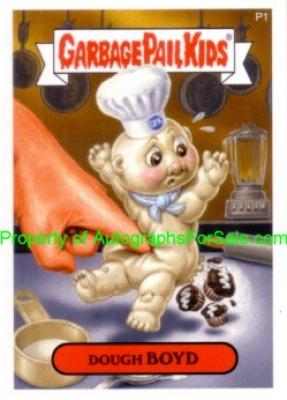 Garbage Pail Kids Series 7 2007 promo card P1 (Dough Boyd)