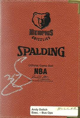 Mike Miller autographed Memphis Grizzlies NBA mini portfolio