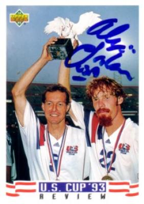 Alexi Lalas autographed U.S. Soccer 1994 Upper Deck card