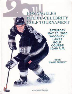 Wayne Gretzky Kings 2000 LAPD Celebrity Golf program