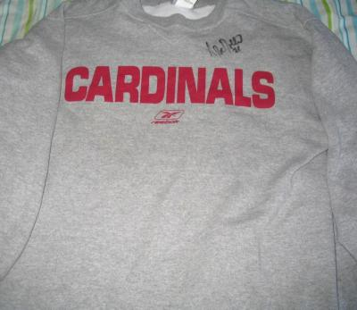 Antrel Rolle autographed Arizona Cardinals Reebok sweatshirt