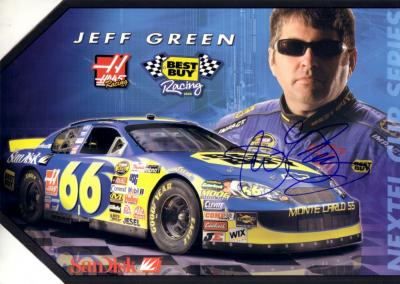 Jeff Green (NASCAR) autographed 8x12 Best Buy Racing promo photo