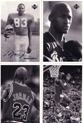 Michael Jordan 1998 Upper Deck Retrospect 4x6 postcard set (4)